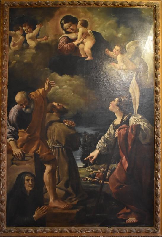 Benedetto Zallone, Apparizione della Madonna con Bambino, Pinacoteca Civica Pieve di Cento - Nicola Quirico - Pieve di Cento (BO)