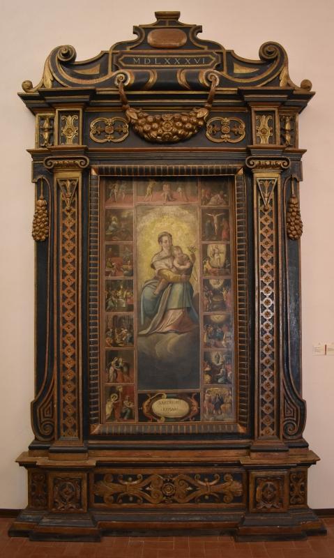 Ancona lignea 1586 Pinacoteca Civica Pieve di Cento - Nicola Quirico - Pieve di Cento (BO)