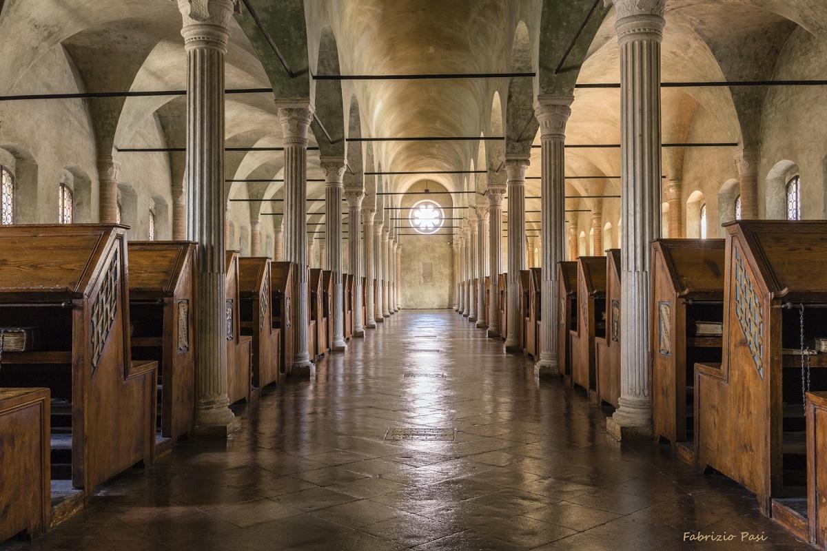 Biblioteca Malatestiana, aula del Nuti di fronte - Fabrizio Pasi - Cesena (FC)