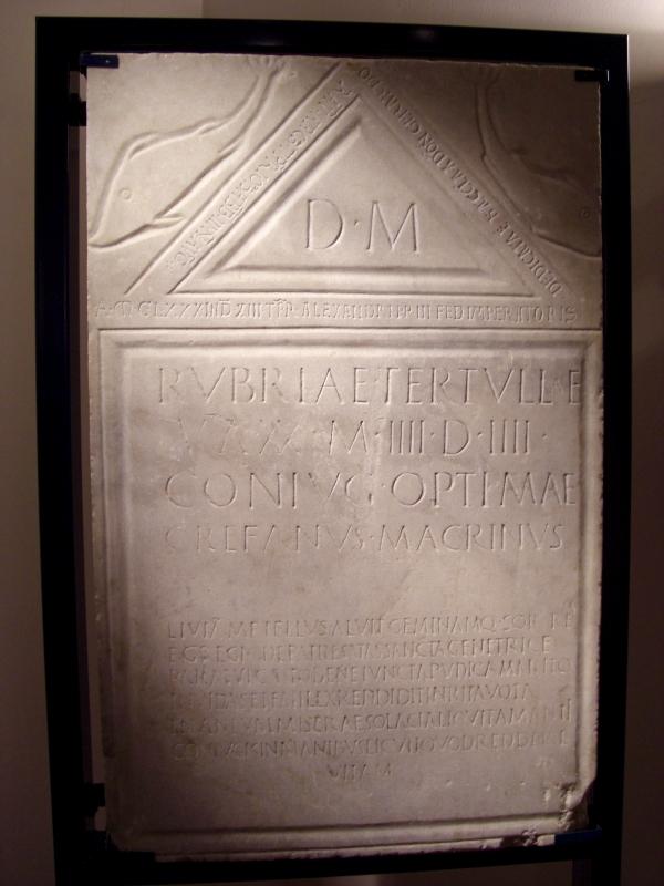 Museo Mambrini Lapide romana - Clawsb - Galeata (FC)