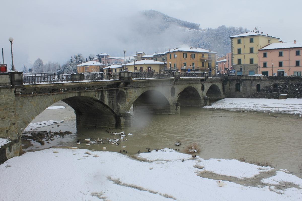 Ponte Vecchio con la neve - Chiara Dobro - Santa Sofia (FC)