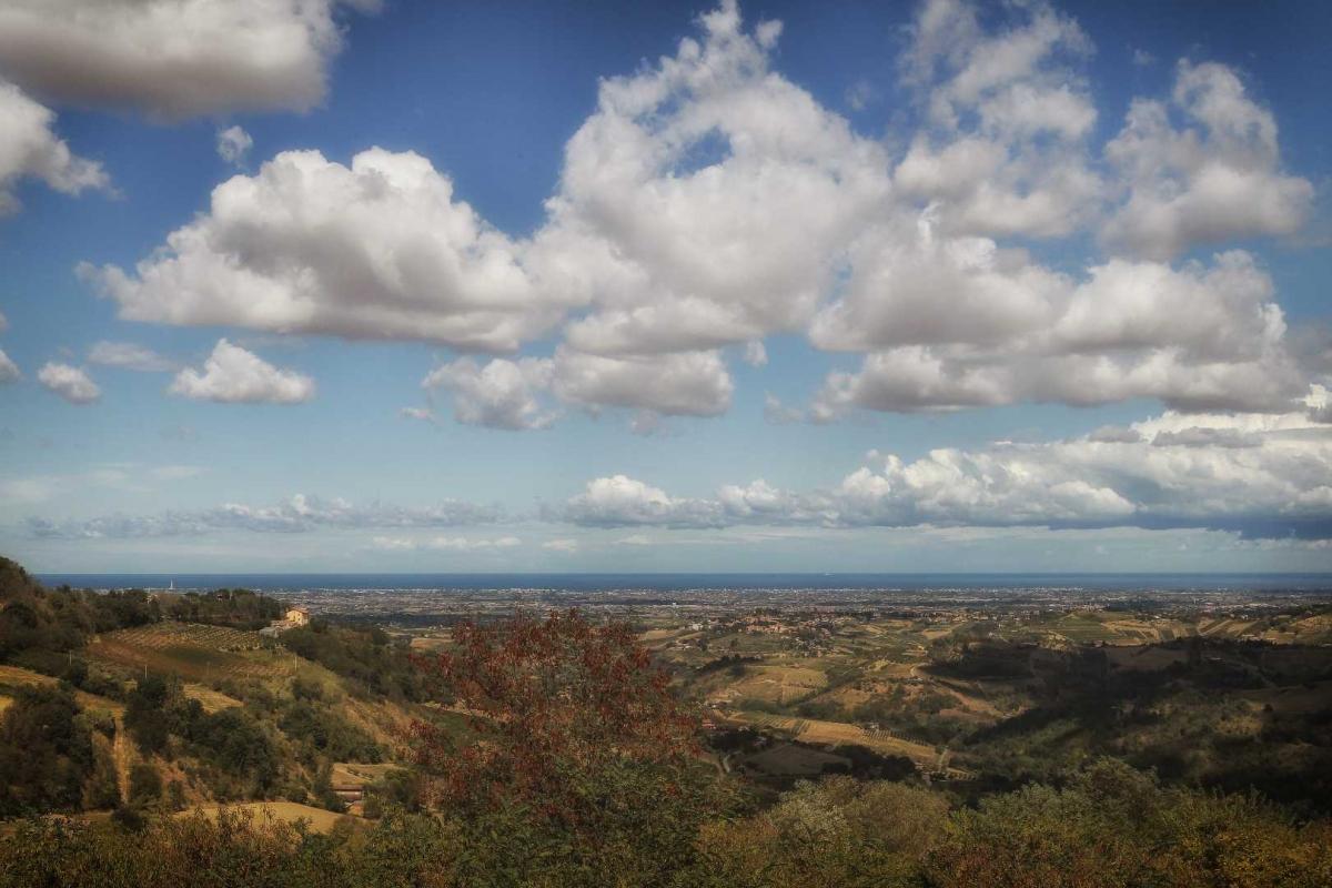 Panorama dalla Sorgente verso il mare - Boschetti Marco 65 - Savignano sul Rubicone (FC)