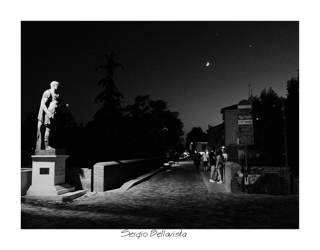 Ponte Consolare Romano e statua di Giulio Cesare- - Sergio bellavista - Savignano sul Rubicone (FC)