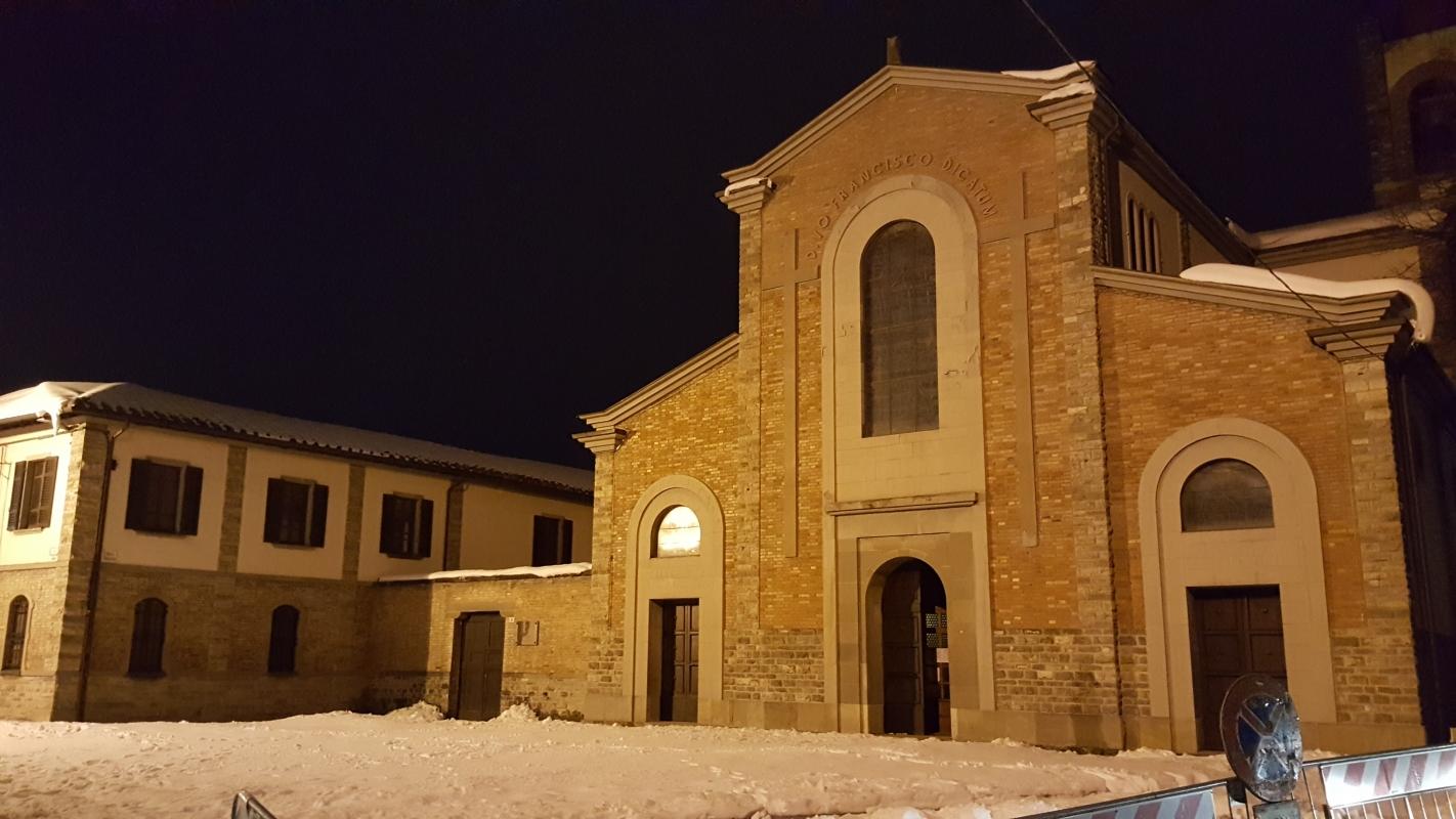 Chiesa di San Francesco nella neve 01 - Marco Musmeci - Bagno di Romagna (FC)