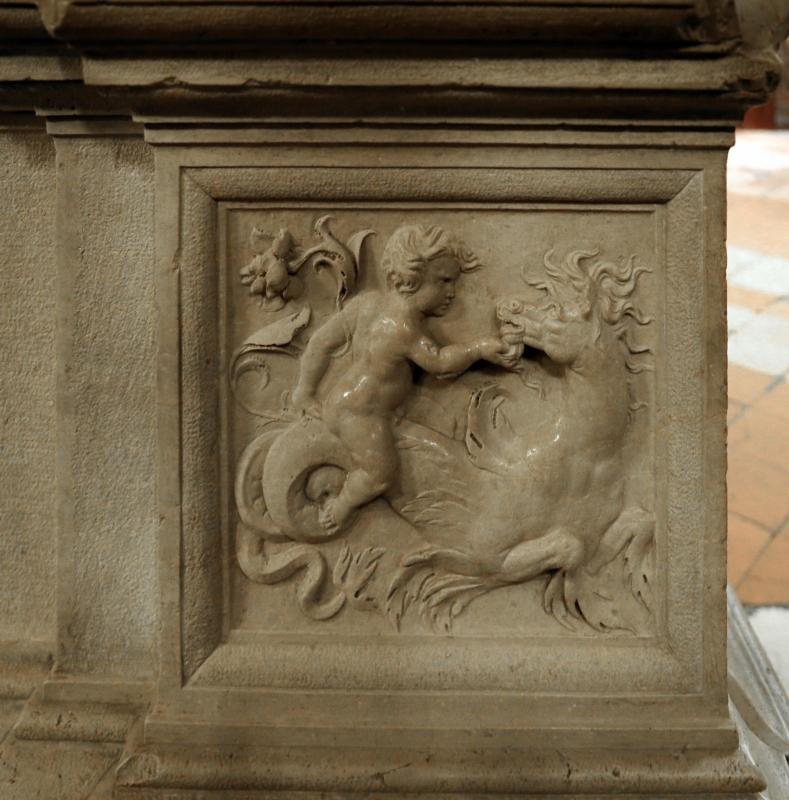 Giacomo bianchi, arco in pietra d'istria, 1536, 07 putto su cavalluccio marino - Sailko - Forlì (FC)