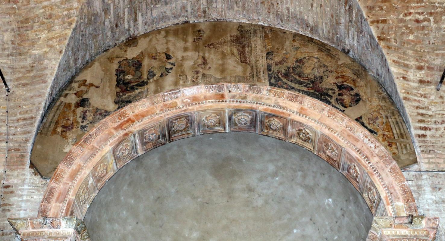 Marco palmezzano, madonna col bambino tra i ss. giovanni ev. e caterina d'a., 15410 ca., affreschi votivi forse dello stesso palmezzano 01 - Sailko - Forlì (FC)