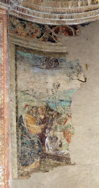 Marco palmezzano, madonna col bambino tra i ss. giovanni ev. e caterina d'a., 15410 ca., affreschi votivi forse dello stesso palmezzano 02 resurrezione di drusiana - Sailko - Forlì (FC)
