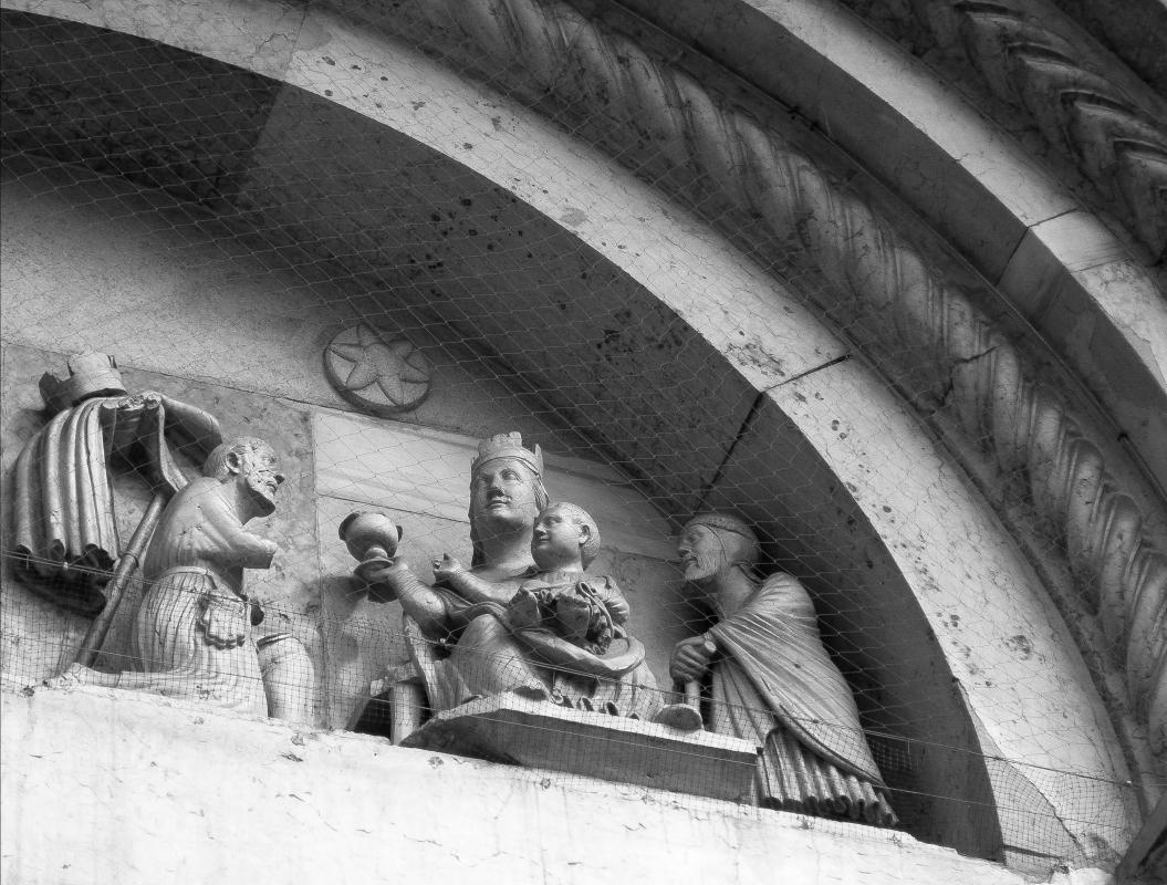 Maestro dei Mesi sogno e adorazione dei magi particolare abbazia di San Mercuriale 02 - Nicola Quirico - Forlì (FC)