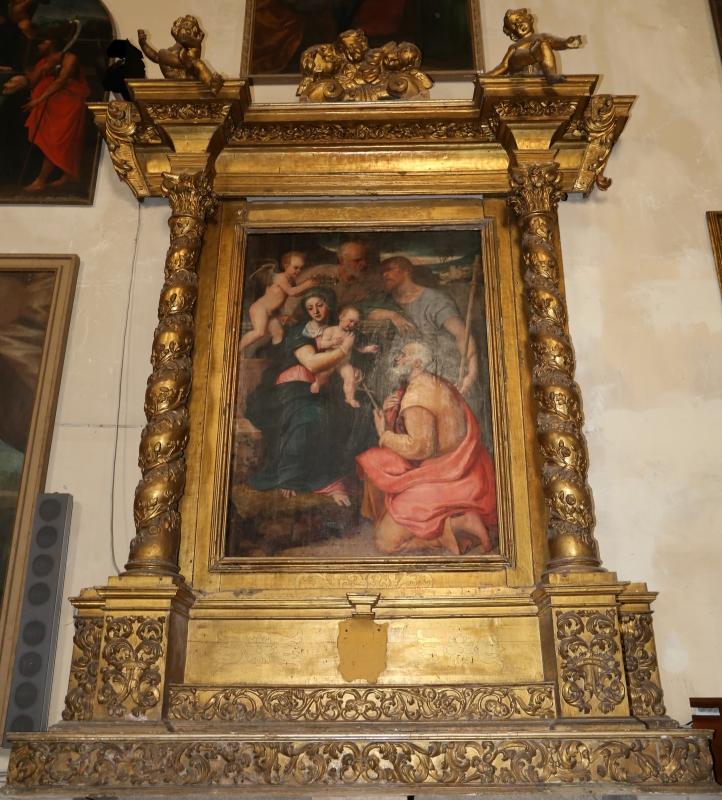 Francesco menzocchi, sacra famiglia coi ss. giacomo minore e filippo, 1547, 01 - Sailko - Forlì (FC)