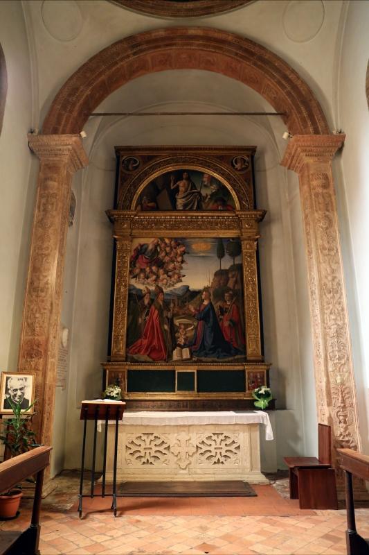 Marco palmezzano, immacolata coi ss. agostino, anselmo e stefano, e lunetta con resurrezione, 1509, 00 - Sailko - Forlì (FC)