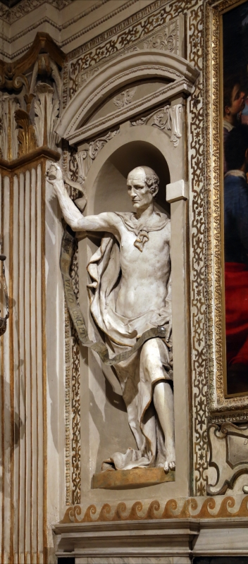 Cappella di san mercuriale, statue di profeti in stucco di artisti locali, 1598 ca., 03 isaia - Sailko - Forlì (FC)