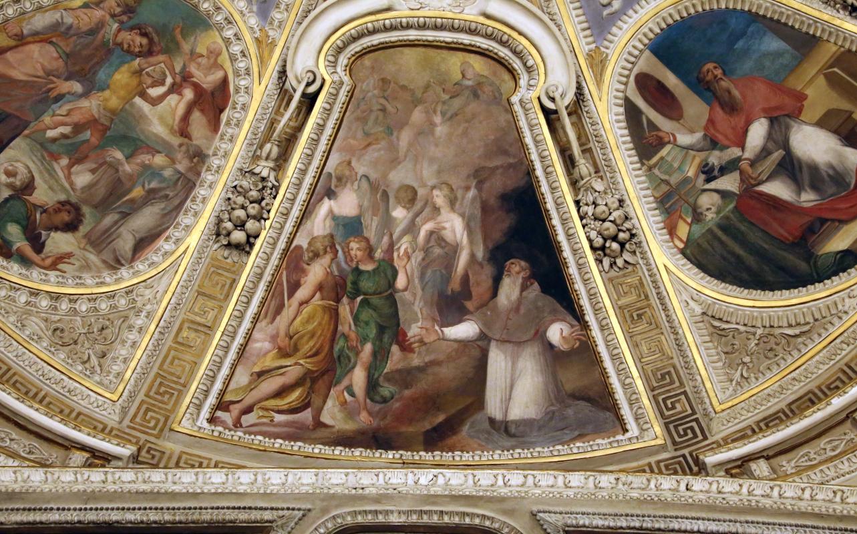 Livio Modigliani, soffitto della cappella di san mercuriale, storie di san girolamo, 1598 ca. 09 - Sailko - Forlì (FC)