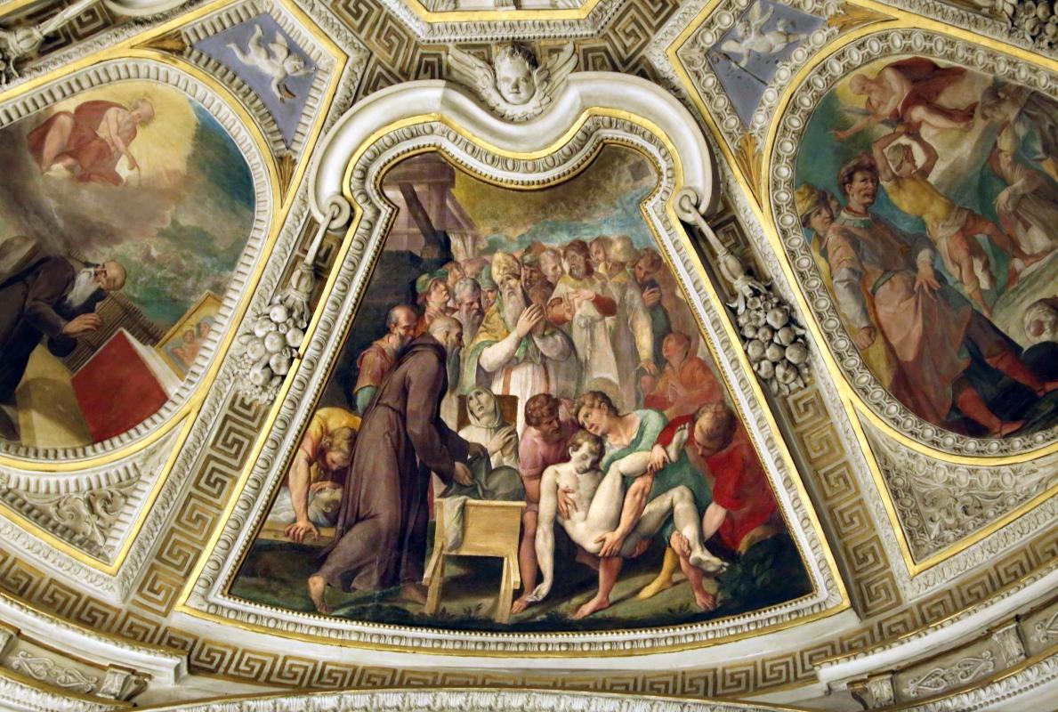 Livio Modigliani, soffitto della cappella di san mercuriale, storie di san girolamo, 1598 ca. 07 - Sailko - Forlì (FC)