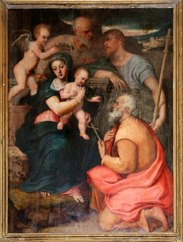 Francesco menzocchi, sacra famiglia coi ss. giacomo minore e filippo, 1547, 03 - Sailko - Forlì (FC)