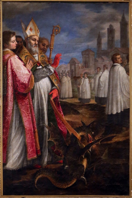 Cigoli, san mercuriale uccide il drago, 1598 ca. 01 - Sailko - Forlì (FC)
