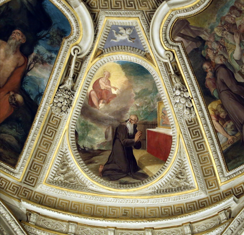 Livio Modigliani, soffitto della cappella di san mercuriale, storie di san girolamo, 1598 ca. 06 - Sailko - Forlì (FC)