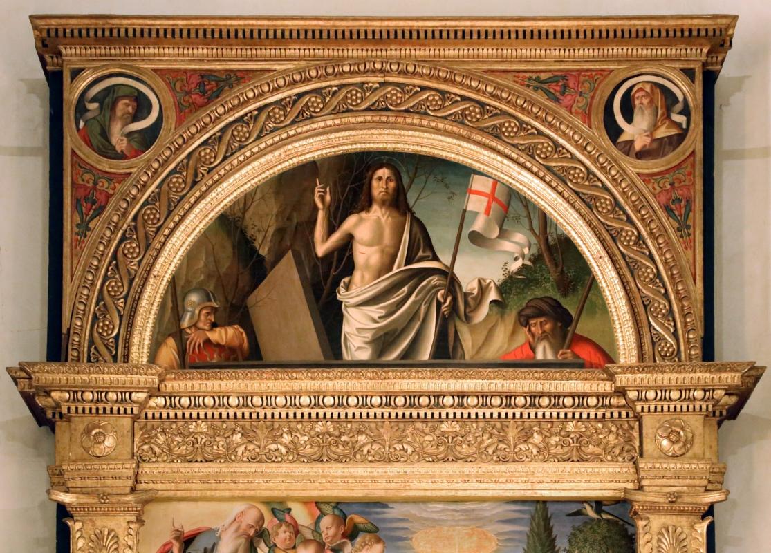 Marco palmezzano, immacolata coi ss. agostino, anselmo e stefano, e lunetta con resurrezione, 1509, 03 - Sailko - Forlì (FC)