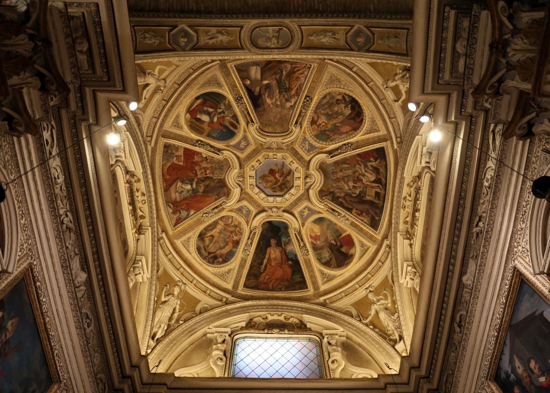 Livio Modigliani, soffitto della cappella di san mercuriale, storie di san girolamo, 1598 ca. 02 - Sailko - Forlì (FC)