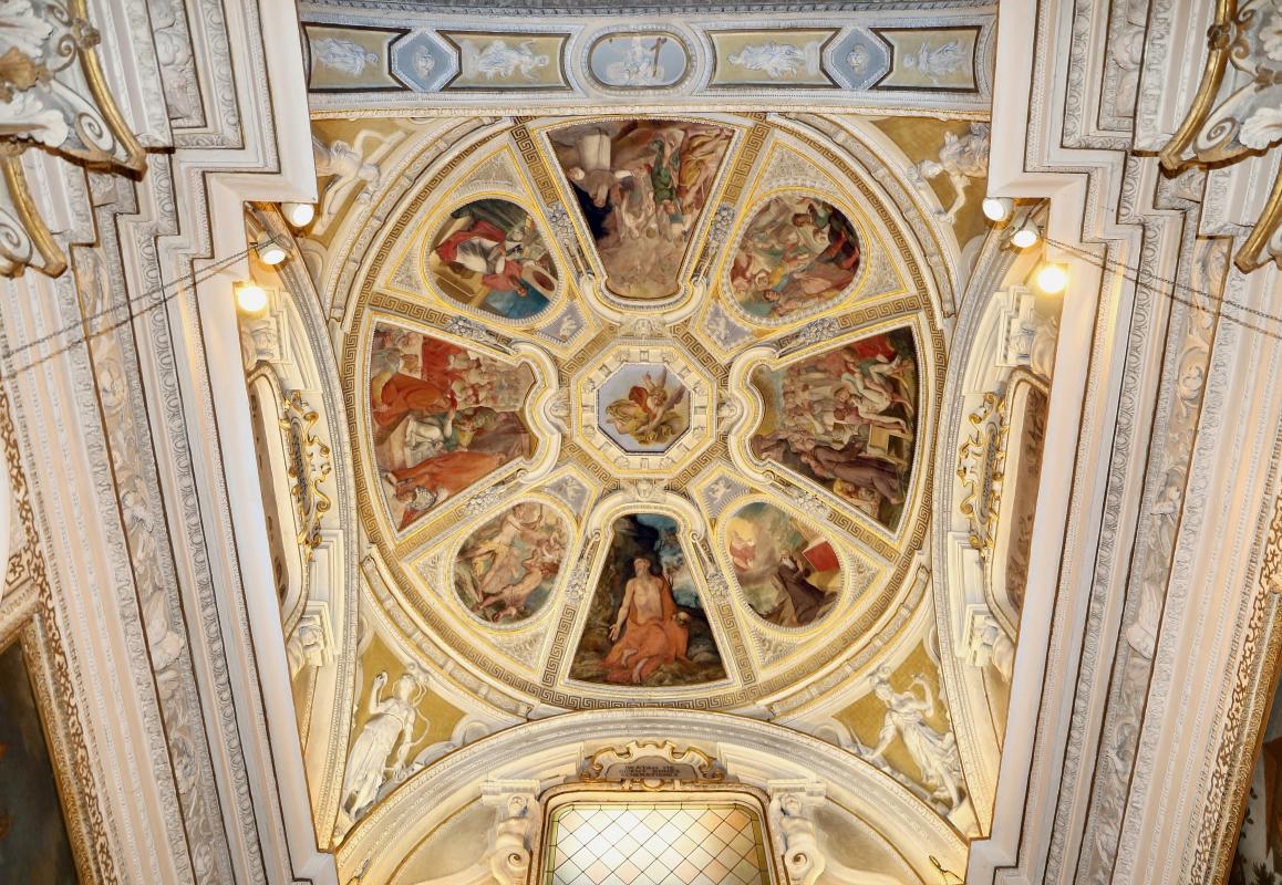 Livio Modigliani, soffitto della cappella di san mercuriale, storie di san girolamo, 1598 ca. 03 - Sailko - Forlì (FC)