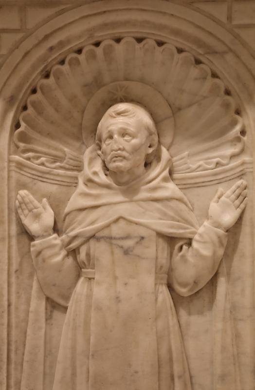 Antonio rossellino, sarcofago del beato marcolino amanni, 1458, da s. giacomo in s. domenico a forlì, santi domenicani 04 domenico - Sailko - Forlì (FC)