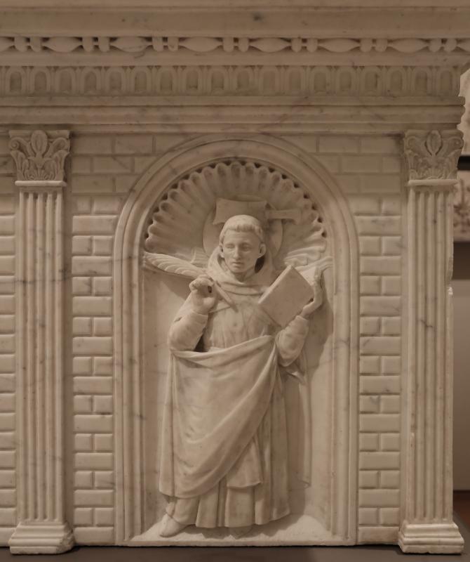 Antonio rossellino, sarcofago del beato marcolino amanni, 1458, da s. giacomo in s. domenico a forlì, santi domenicani 07 pietro martire - Sailko - Forlì (FC)