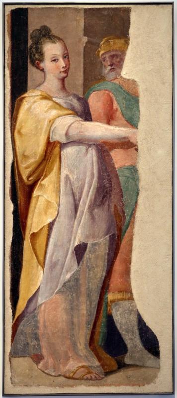 Pier paolo menzocchi, storie dell'antico testamento, dalla sal del coniglio (o degli angeli) nel palazzo comunale di forlì, 1574, figura femminile - Sailko - Forlì (FC)