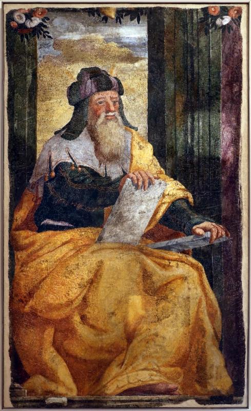 Livio agresti, storie eucaristiche e personaggi dell'antico testamento, mosè, dal duomo di forlì - Sailko - Forlì (FC)