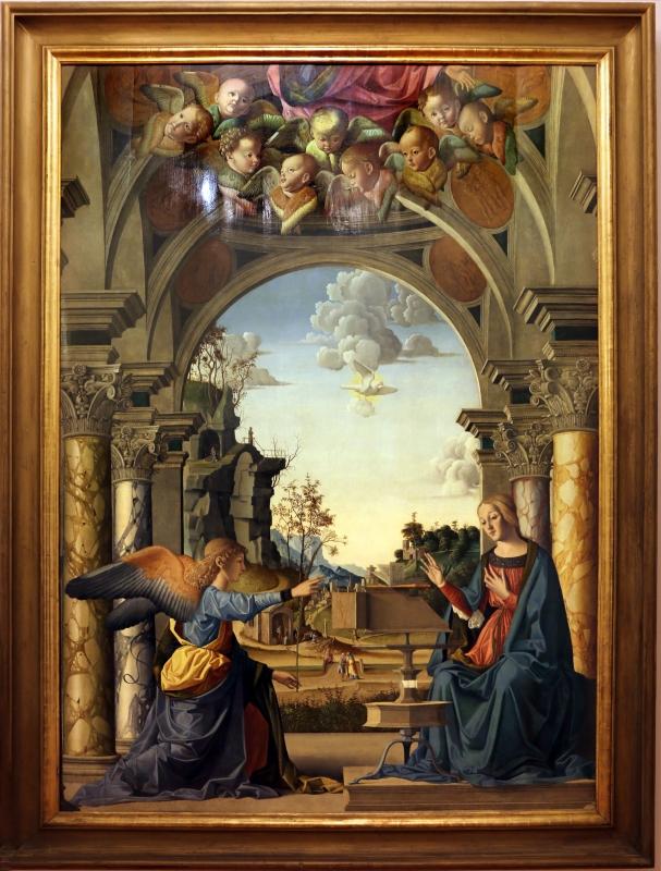Marco palmezzano, annunciazione, 1495-97 ca., da s.m. del carmine a forlì, 01 - Sailko - Forlì (FC)