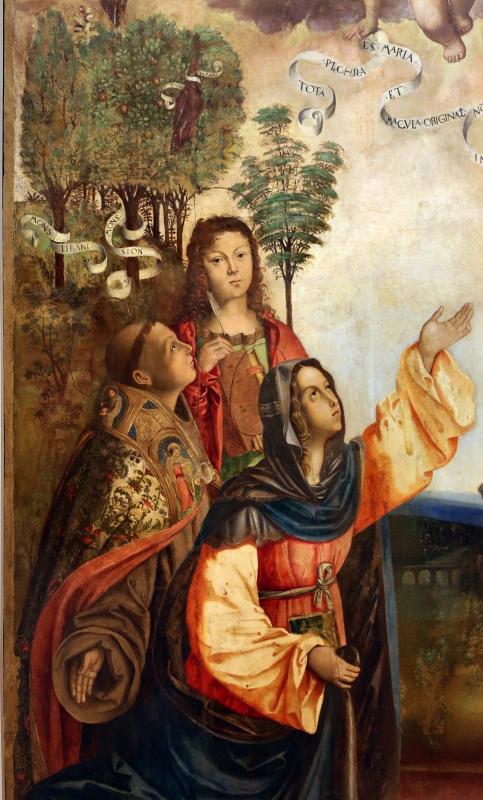Francesco zaganelli da cotignola, concezione della vergine, 1513, da s. biagio in s. girolamo a forlì, 04 santi - Sailko - Forlì (FC)