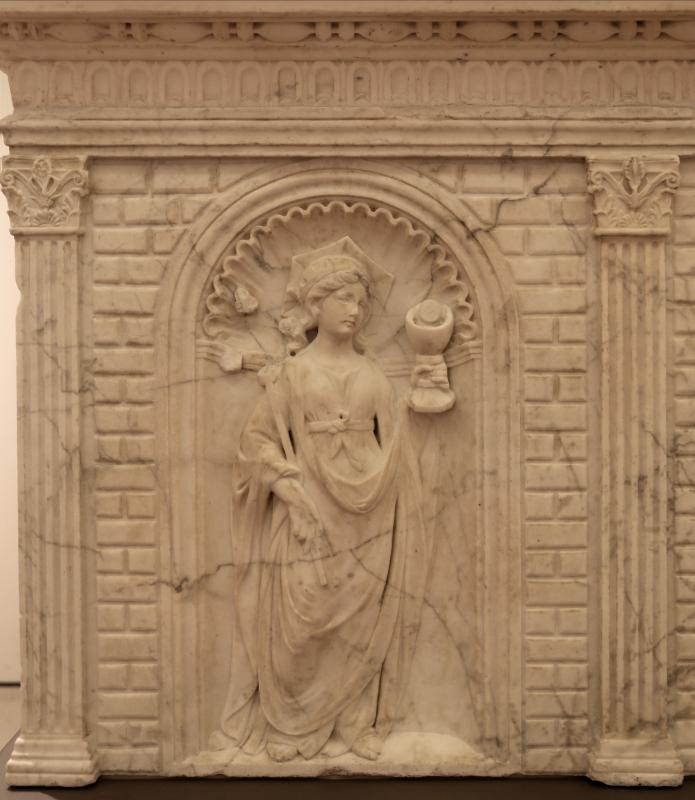 Antonio rossellino, sarcofago del beato marcolino amanni, 1458, da s. giacomo in s. domenico a forlì, virtù, fede 01 - Sailko - Forlì (FC)