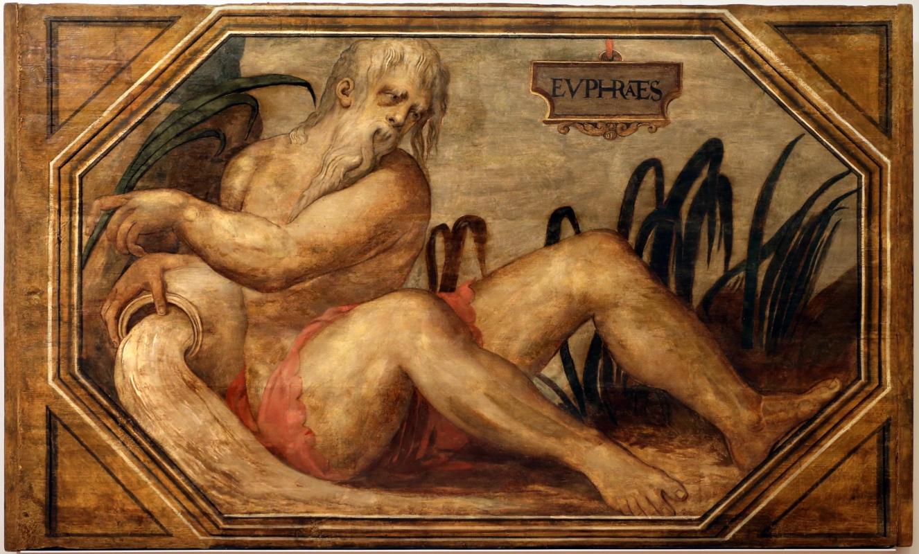 Francesco menzocchi, fiume eufrate, 1550-70 ca., dal soffitto della sala del consiglio (o degli angeli) del palazzo comunale di forì - Sailko - Forlì (FC)