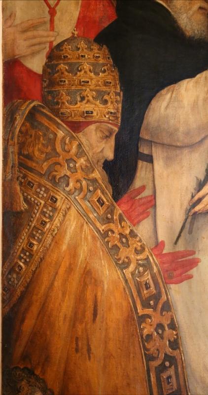 Pier paolo menzocchi, madonna del rosario, 1585 ca., da s. giacomo in s. domenico a forlì 03 papa - Sailko - Forlì (FC)