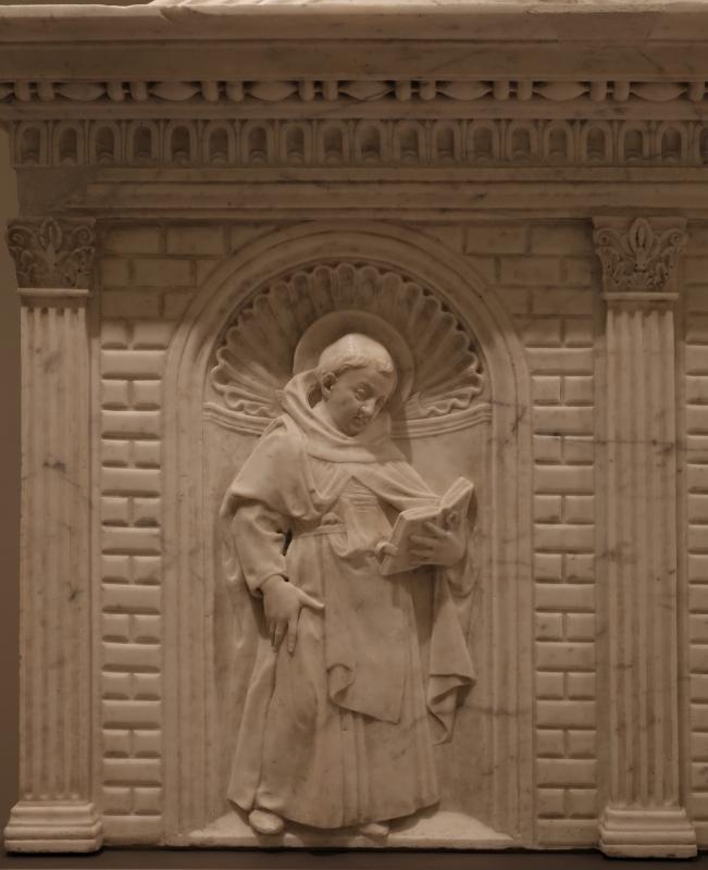 Antonio rossellino, sarcofago del beato marcolino amanni, 1458, da s. giacomo in s. domenico a forlì, santi domenicani 01 - Sailko - Forlì (FC)