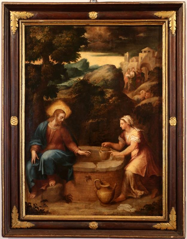 Pier paolo menzocchi, gesù e la samaritana al pozzo, 1574 - Sailko - Forlì (FC)