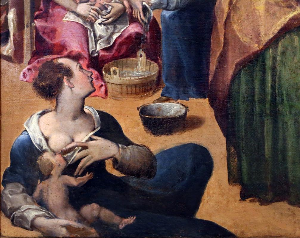 Gian francesco modigliani, natività della vergine, 1590-1600 ca. 02 donna che allatta - Sailko - Forlì (FC)