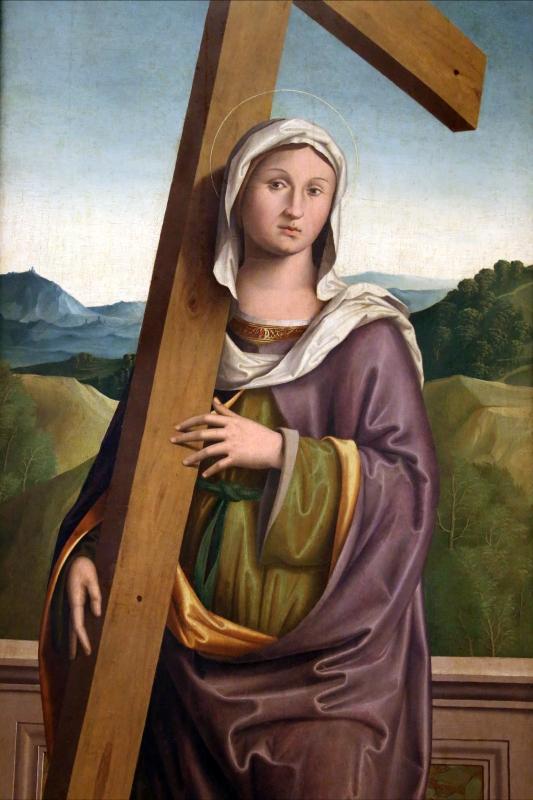 Marco palmezzano, sant'elena con la croce, 1516, da s.m. degli angeli dei domenicani a bertinoro 02 - Sailko - Forlì (FC)
