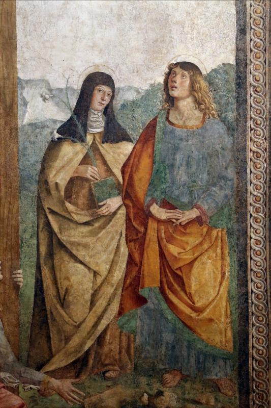 Marco palmezzano, crocifissione e santi, 1492, da s.m. della ripa a forlì, 0chiara e giovanni - Sailko - Forlì (FC)