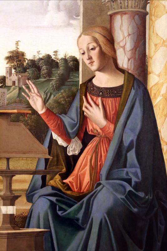 Marco palmezzano, annunciazione, 1495-97 ca., da s.m. del carmine a forlì, 08 madonna - Sailko - Forlì (FC)