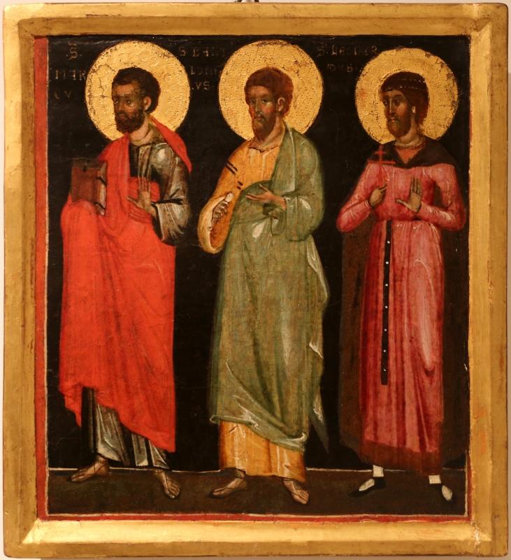Maestro di caorle, ss. marco, bartolomeo e leonardo, 1330-50 ca - Sailko - Forlì (FC)