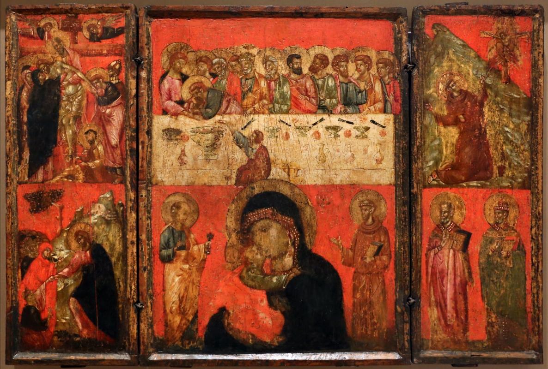 Scuola veneto-romagnola, ultima cena, madonna col bambino, santi e scene sacre, 1320-30 ca - Sailko - Forlì (FC)