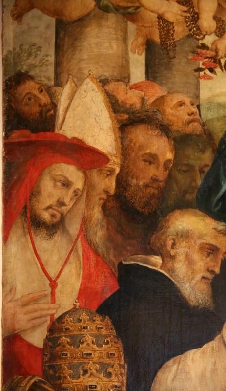 Pier paolo menzocchi, madonna del rosario, 1585 ca., da s. giacomo in s. domenico a forlì 02 cardinale - Sailko - Forlì (FC)