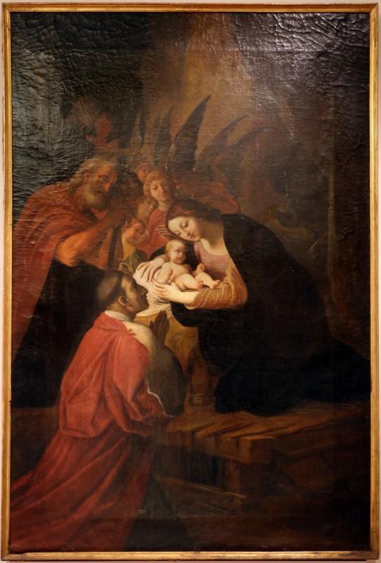 Ludovico carracci, san carlo borromeo in adorazione del bambino, 1614-16, da s. bernardo a bologna - Sailko - Forlì (FC)