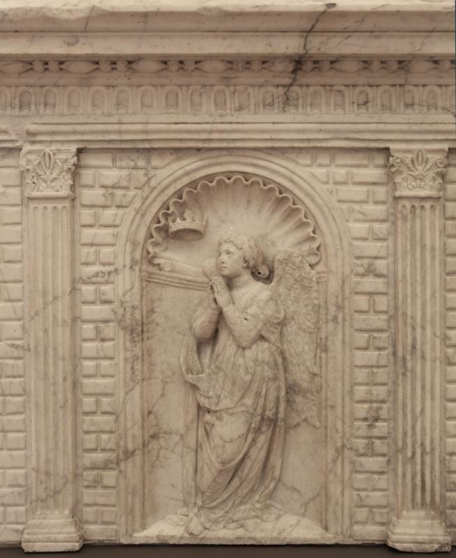 Antonio rossellino, sarcofago del beato marcolino amanni, 1458, da s. giacomo in s. domenico a forlì, virtù, speranza 01 - Sailko - Forlì (FC)