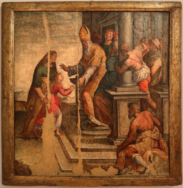 Ambito di livio agresti, presentazione di maria la tempio, dal duom o di forlì, sagrestia, 01 - Sailko - Forlì (FC)