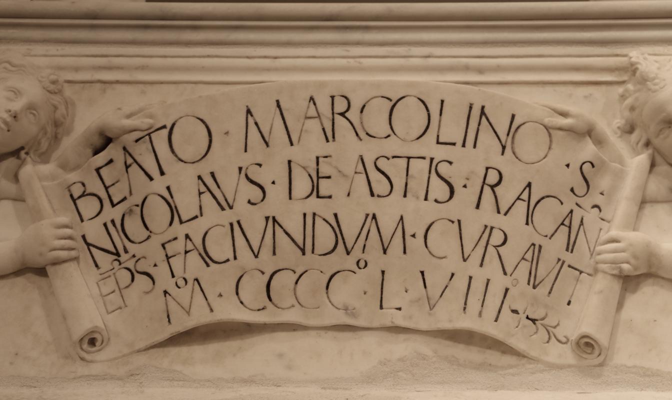 Antonio rossellino, sarcofago del beato marcolino amanni, 1458, da s. giacomo in s. domenico a forlì, 11 - Sailko - Forlì (FC)