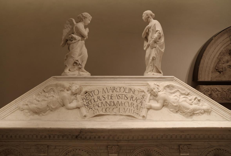 Antonio rossellino, sarcofago del beato marcolino amanni, 1458, da s. giacomo in s. domenico a forlì, 04 annuncizione - Sailko - Forlì (FC)