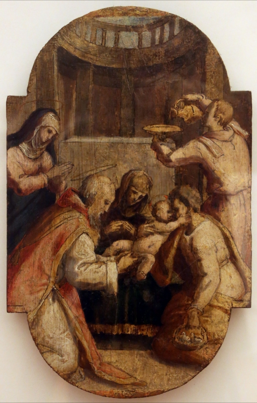 Pier paolo menzocchi, tavolette con scene della vita e della passione di cristo, 03 circoncisione - Sailko - Forlì (FC)