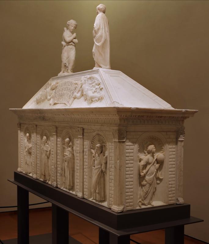 Antonio rossellino, sarcofago del beato marcolino amanni, 1458, da s. giacomo in s. domenico a forlì, 01 - Sailko - Forlì (FC)