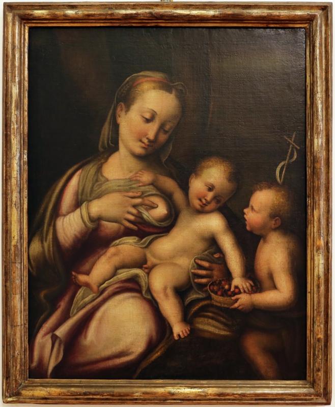 Francesco longhi (attr.), madonna col bambino e san giovannino, 1580-90 ca - Sailko - Forlì (FC)