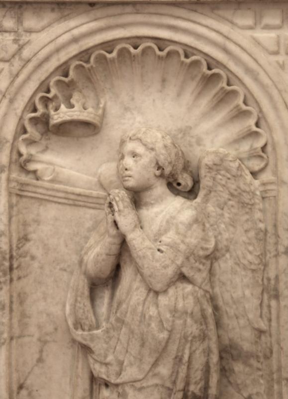Antonio rossellino, sarcofago del beato marcolino amanni, 1458, da s. giacomo in s. domenico a forlì, virtù, speranza 02 - Sailko - Forlì (FC)